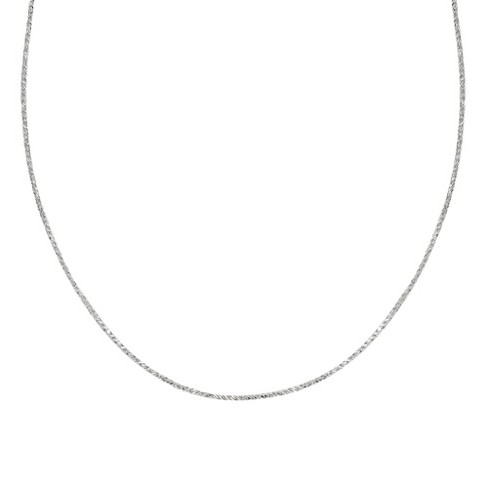 "Sterling Silver Sparkle Chain Necklace - Silver (20"") - image 1 of 1"