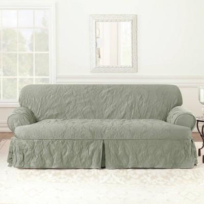 Matelasse Damask Sofa Slipcover - Sure Fit