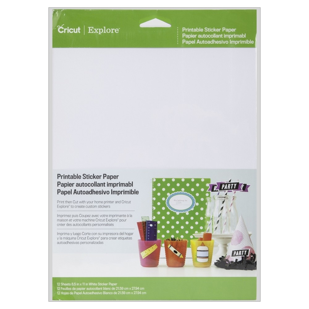 Image of Cricut Printable Sticker Paper