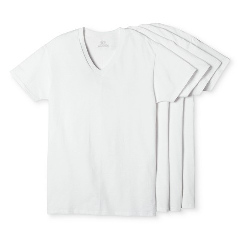 Fruit of the Loom® Men's 4pk Breathable V-Neck T-Shirts - White - image 1 of 1