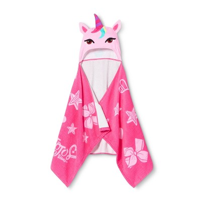 JoJo Siwa Unicorn Hooded Bath Towel Pink