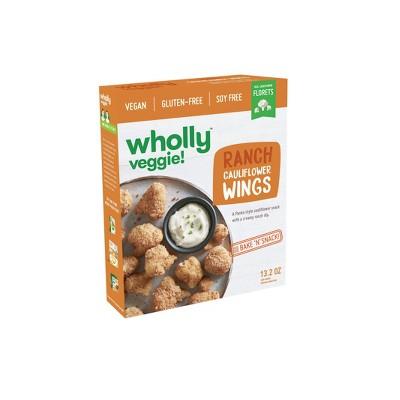 Wholly Veggie! Gluten Free and Vegan Frozen Ranch Cauliflower Wings - 13.2oz