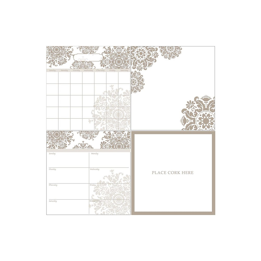 Wall Pops! Dry Erase Calendar Set - White/Taupe, Neutral