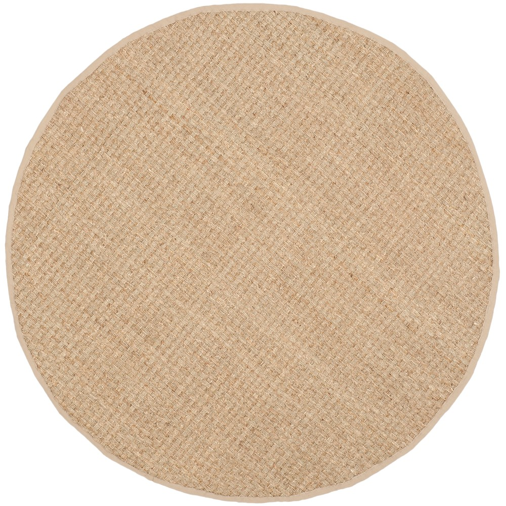 Beige Light Blue Solid Loomed Round Accent Rug 3 Safavieh