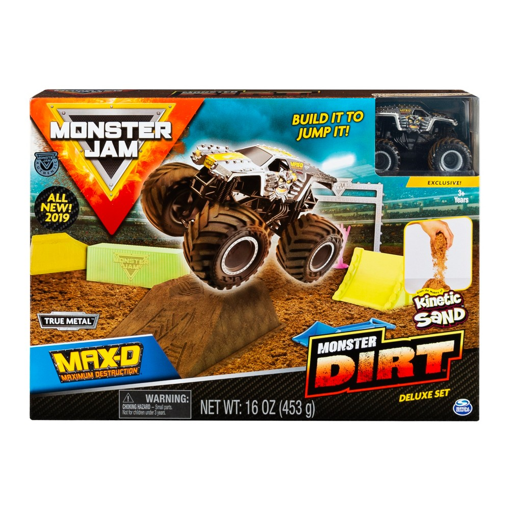 Monster Jam Max D Monster Dirt Deluxe Set Featuring 16oz of Monster Dirt and Official Die-Cast Monster Jam Truck