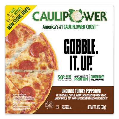 CAULIPOWER Uncured Turkey Pepperoni Cauliflower Crust Frozen Pizza - 11.3oz