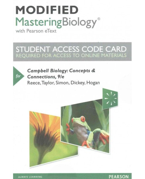 Campbell Biology Modified MasteringBiology With Pearson Etext Access Code : Concepts & Connections - image 1 of 1
