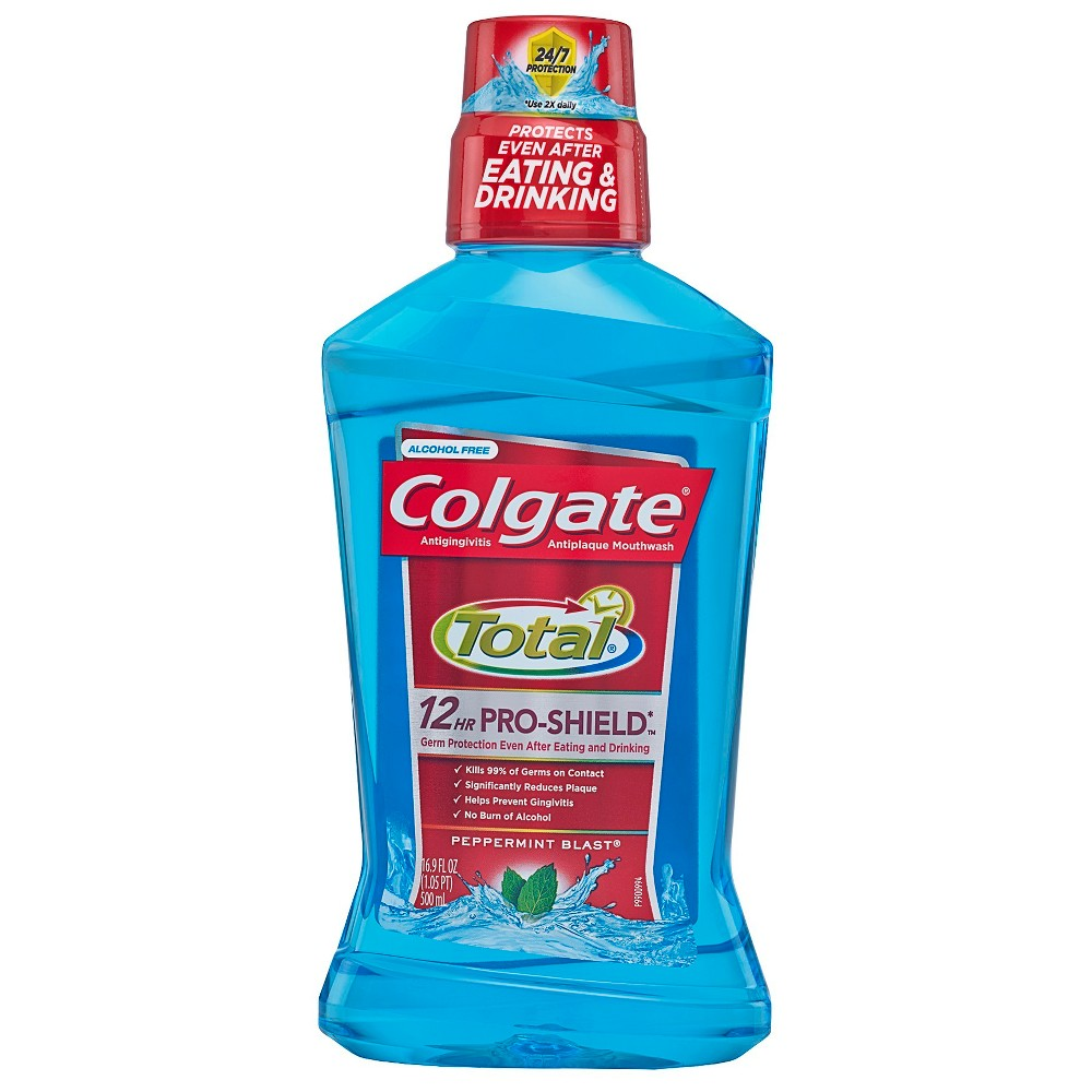 Colgate Total Pro-Shield Mouthwash Peppermint Blast - 500ml