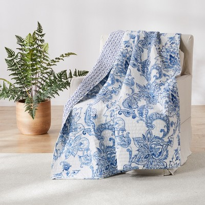 Bennett Floral Quilted Throw - Villa Lugano by Levtex Home