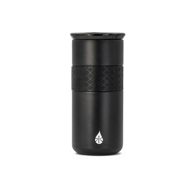 Elemental 16oz Matte Double Walled Stainless Steel Coffee Tumbler with Ceramic Lid