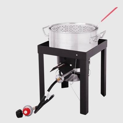 Creole Feast 50000BTU Premium Aluminum Outdoor Fryer and Steamer Set TFK3001