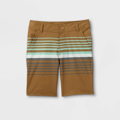 Boys' Hybrid Striped Swim Trunks - art class™ Camo Green