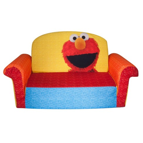 Marshmallow Fun Co. Elmo/Sesame Furniture Flip Open Sofa - image 1 of 4