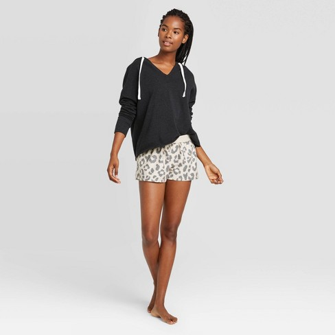 Women's Fold-Over Waistband Boxer Pajama Shorts - Colsie™ - image 1 of 3