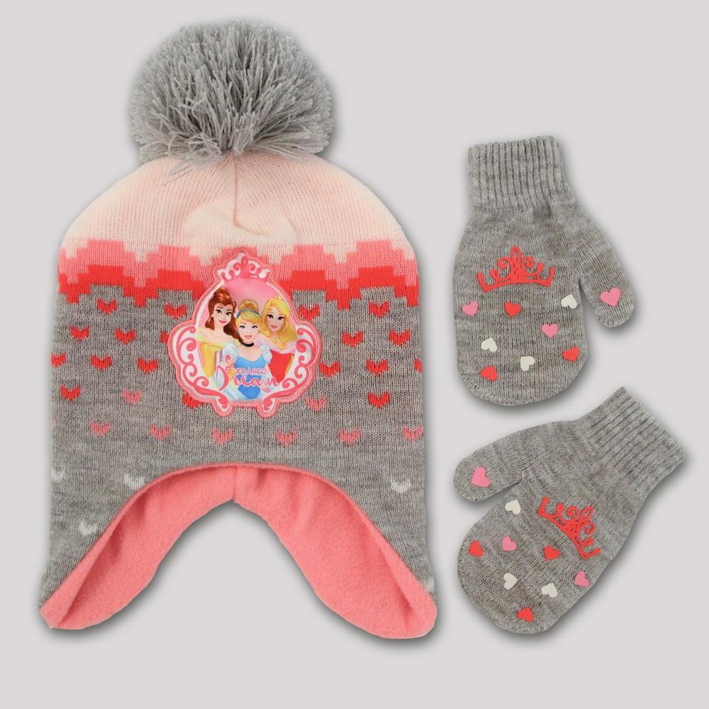Toddler Girls' Disney Princess Handwear and Headwear Sets - Gray