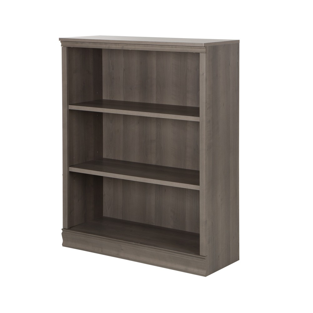"Image of ""44.17"""" Morgan 3 Shelf Bookcase Gray Maple - South Shore"""