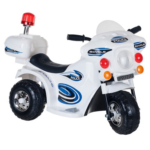 Lil' Rider SuperSport Three Wheeled Motorcycle Ride-on - White - image 1 of 2