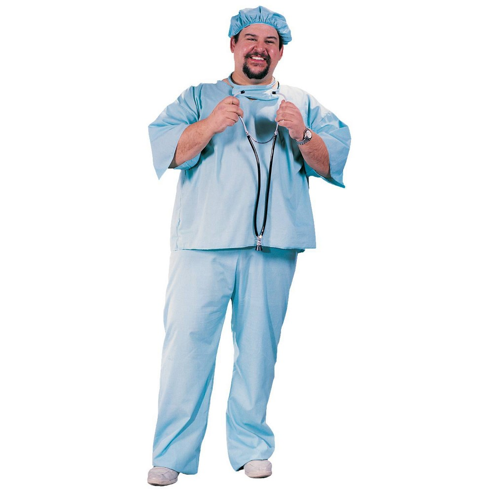 Image of Halloween Adult Doctor Costume XX-Large, Adult Unisex, Blue