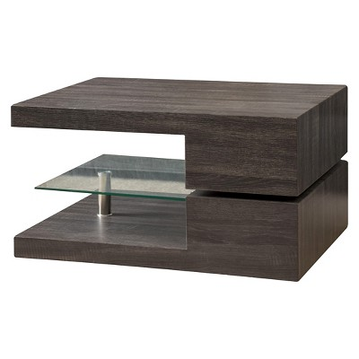 Michael Rectangular Rotating Coffee Table Black Oak   Christopher Knight  Home