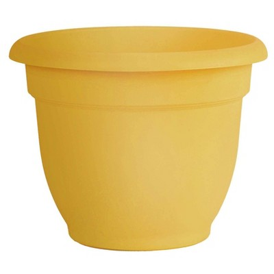 """16"""" Ariana Planter with Self Watering Grid - Earthy Yellow - Bloem"""