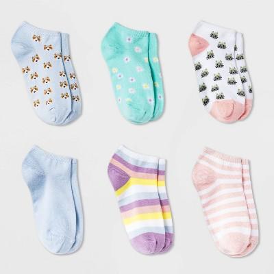 Girls' 6pk Corgi and Cat Super Soft No Show Socks - Cat & Jack™