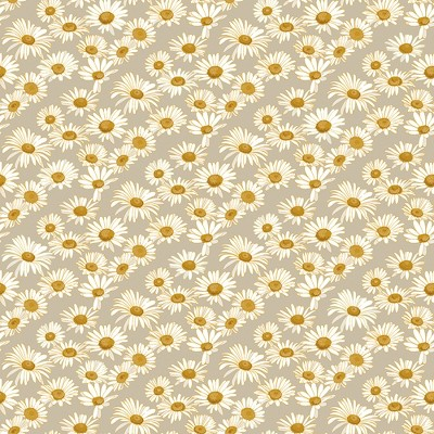 Tempaper Daisies Greige Self Adhesive Removable Wallpaper
