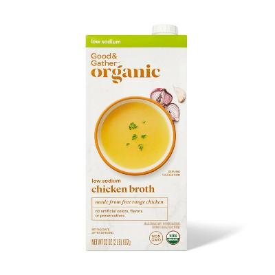 Organic Reduced Sodium Chicken Broth - 32oz - Good & Gather™