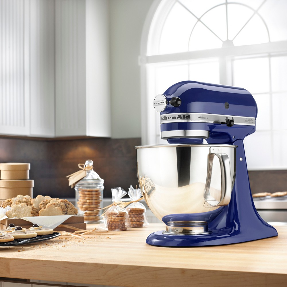 KitchenAid Refurbished Artisan Series 5qt Stand Mixer – Cobalt Blue RRK150BU 53499035