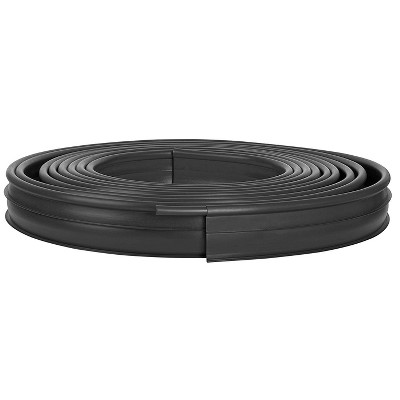 Suncast Professional Grade Dig In 60 Foot Resin Landscape Edging Roll, Black