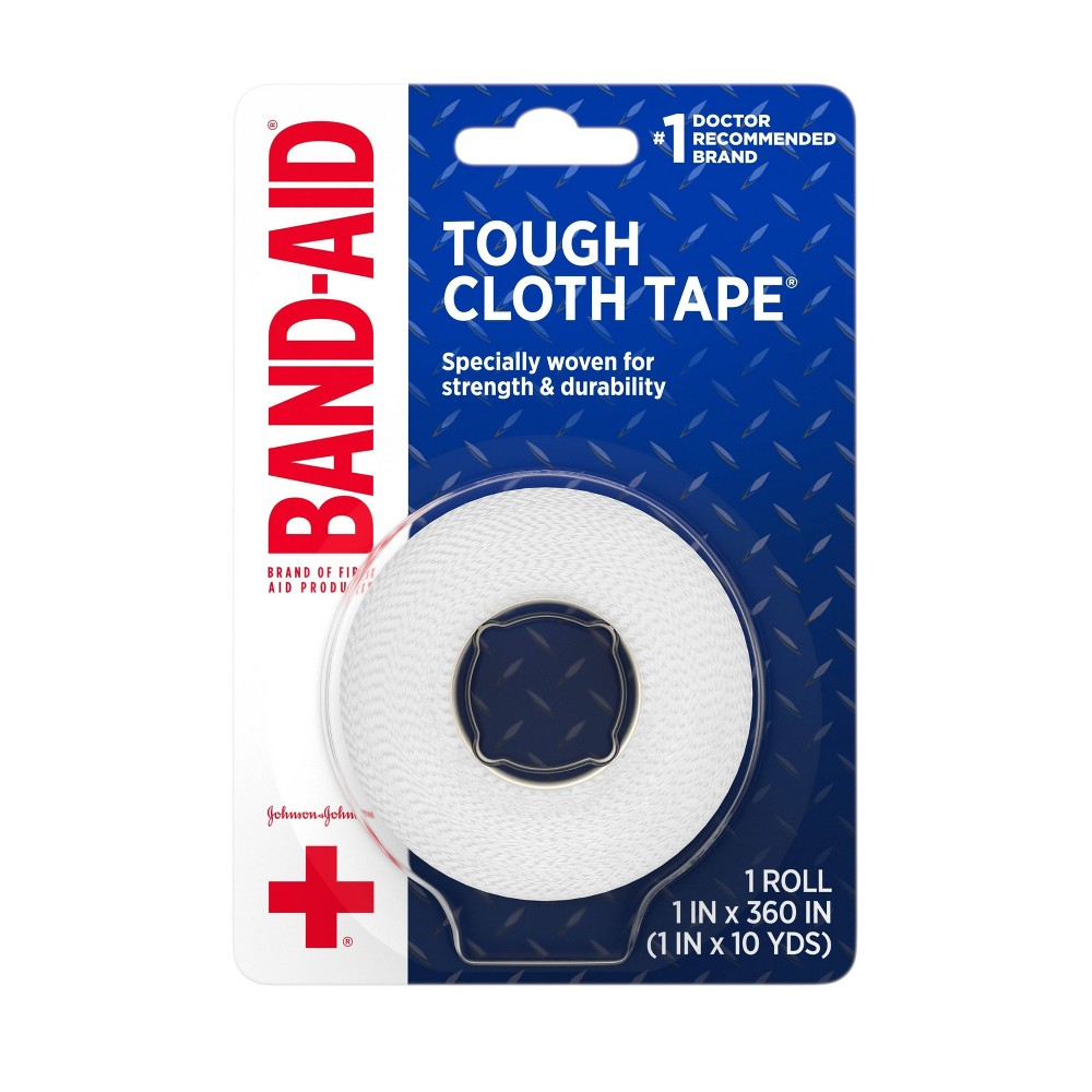 Band Aid Brand First Aid Medical Tough Cloth Tape 1in X 10yd