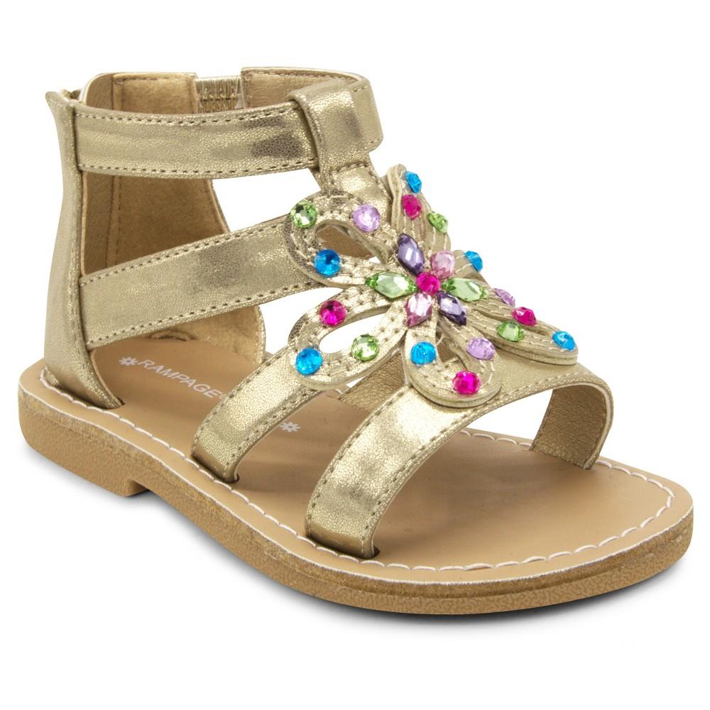 Toddler Girls' Covergirl Bailey Gladiator Sandals - Gold 7