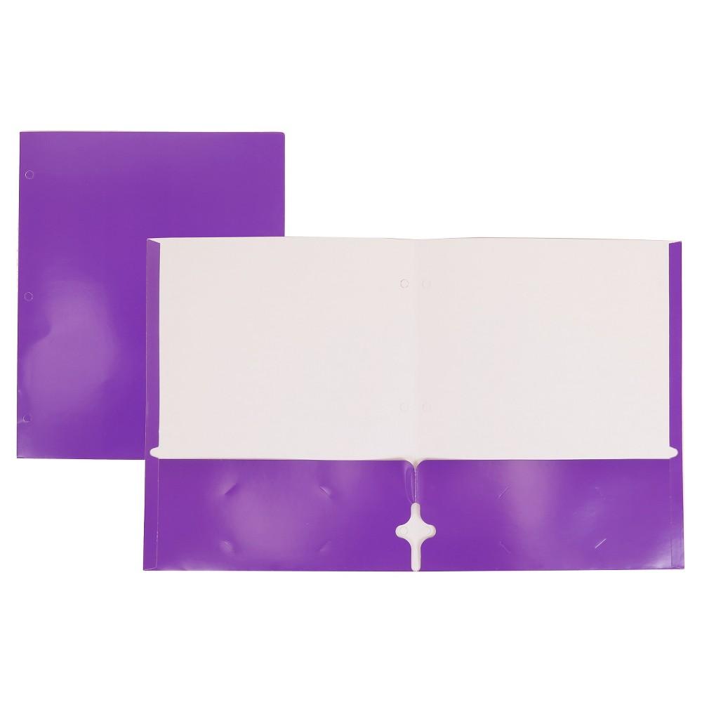 Image of 2 Pocket Paper Folder Purple - Pallex