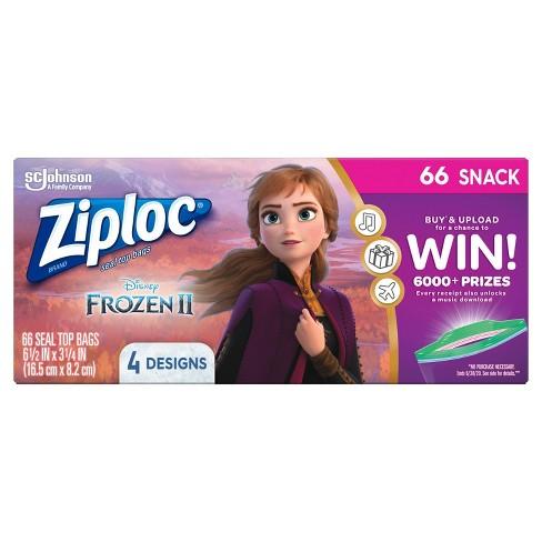 Ziploc Brand Snack Bags - Disney's Frozen 2 - 66ct - image 1 of 4