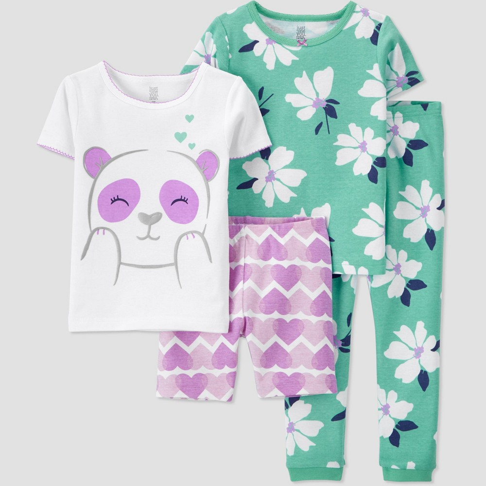 Toddler Girls 39 4pc Panda Pajama Set Just One You 174 Made By Carter 39 S Purple 3t