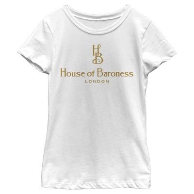 Girl's Cruella House of Baroness London Logo Gold T-Shirt