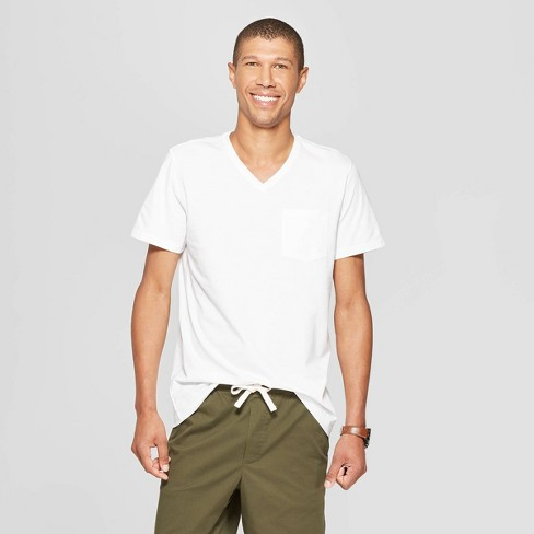 Men's Standard Fit Short Sleeve Elevated Ultra-Soft V-Neck T-Shirt - Goodfellow & Co™ - image 1 of 3