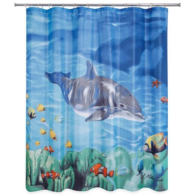 Dolphin & Fish Shower Curtain - Allure Home Creation