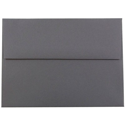 JAM Paper A6 Invitation Envelopes 4.75 x 6.5 Dark Grey 36396433