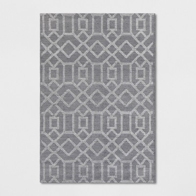 5'X7' Tapestry Tufted Geometric Area Rug Gray - Project 62™