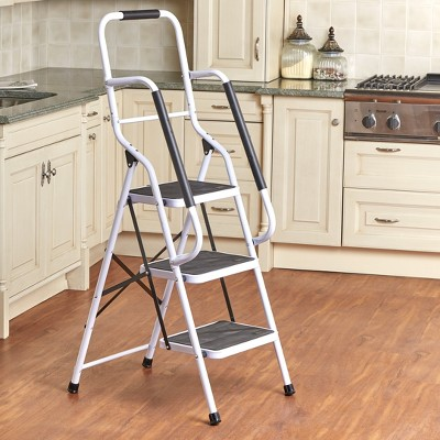 Lakeside 3-Step Project Ladder with Side Handles for Balancing and Grip