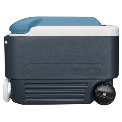 Igloo MaxCold 40 Quart Wheeled Cooler, Blue