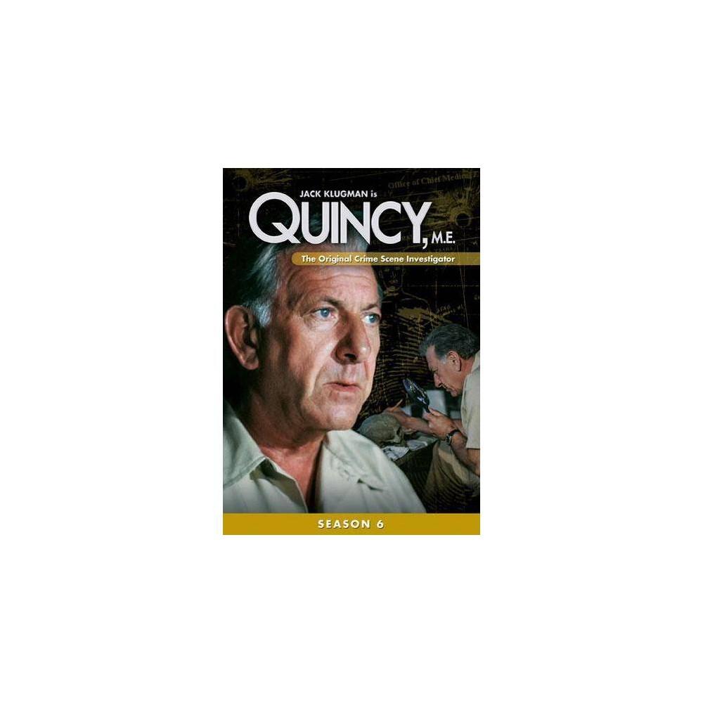 Quincy M E Season 6 Dvd 2013