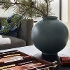 "10"" x 10"" Round Earthenware Vase Gray - Threshold™ designed with Studio McGee - image 2 of 4"