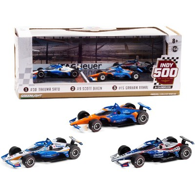 2020 Indianapolis 500 Podium Set of 3 IndyCars 1/64 Diecast Model Cars by Greenlight