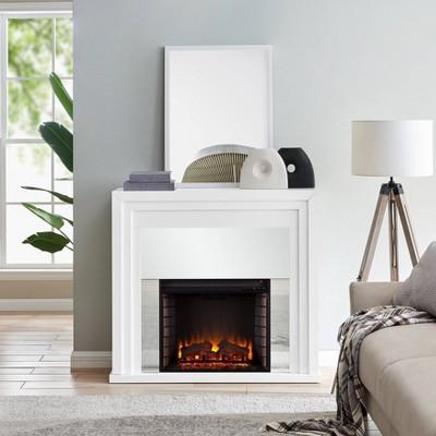 Swanmoor Mirrored Fireplace - Aiden Lane