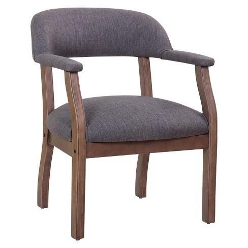 Modern Captain's Chair Slate Gray - Boss - image 1 of 4