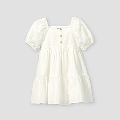 Toddler Girls' Eyelet Short Sleeve Dress - art class™ White