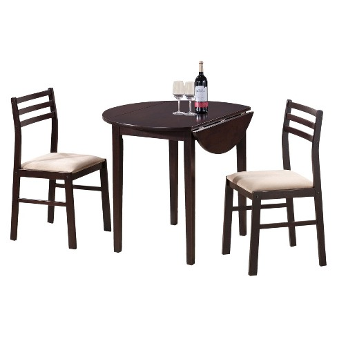 Drop Leave Dining Table - Brown (Set of 3) - EveryRoom - image 1 of 4