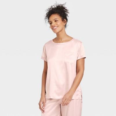 Women's Satin Sleep T-Shirt - Stars Above™ Soft Pink