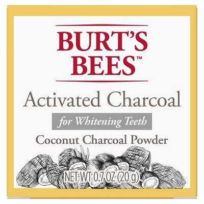 Burt's Bees Activated Charcoal Powder for Whitening Teeth - 0.7oz